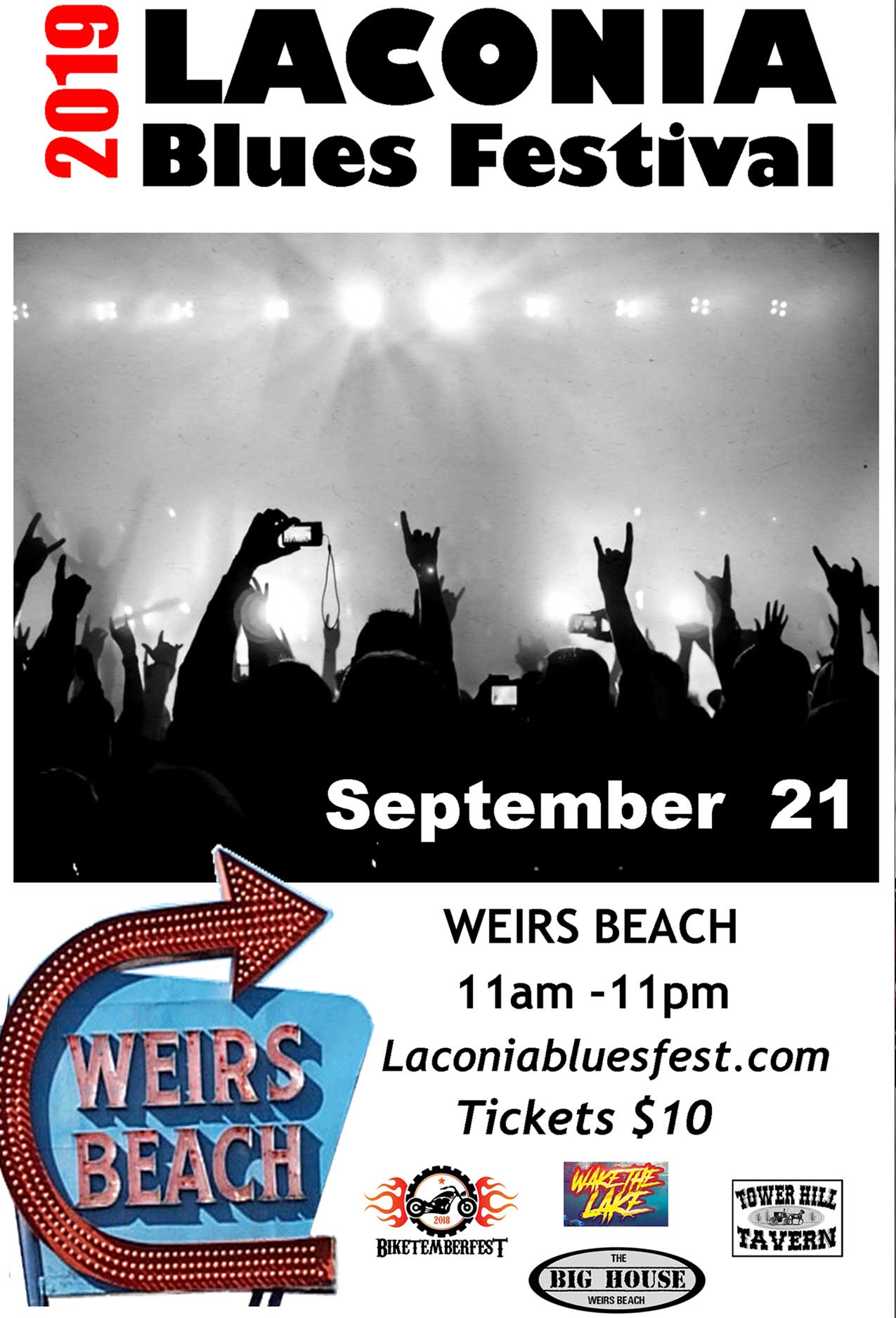 Laconia Blues Festival Concert Flyer