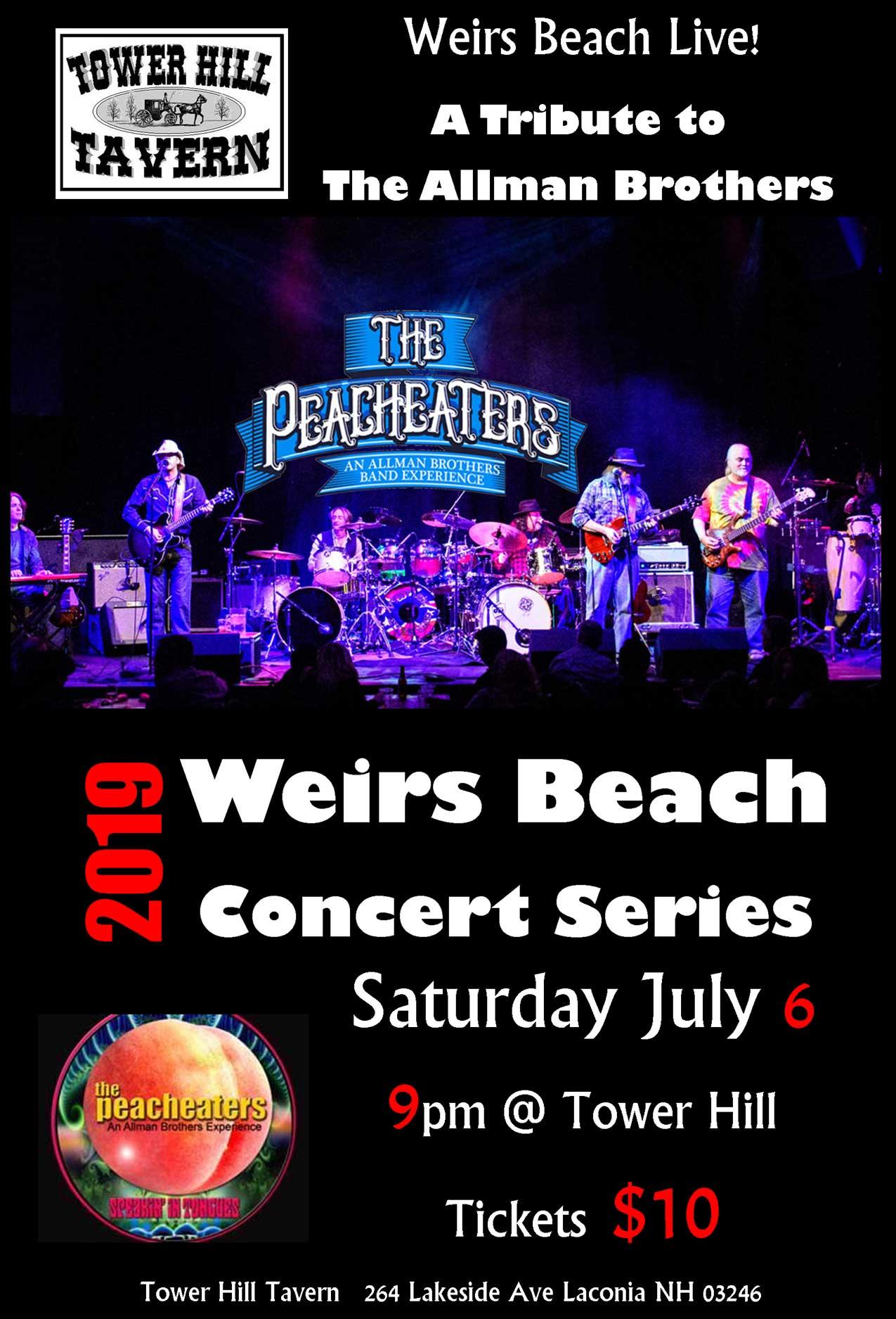 The Peacheaters Concert Flyer