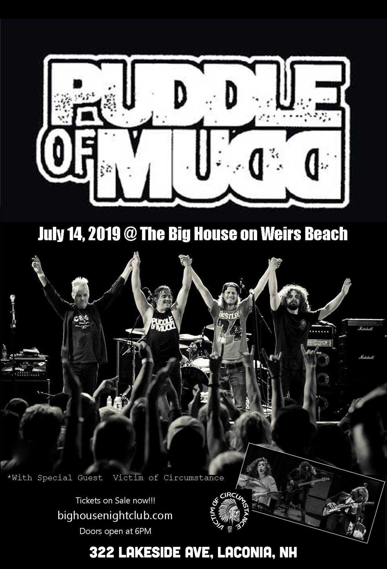 Puddle of Mudd Concert Flyer
