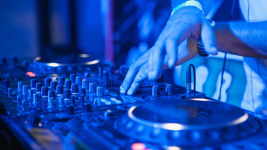 The Big House Nightclub Turntables