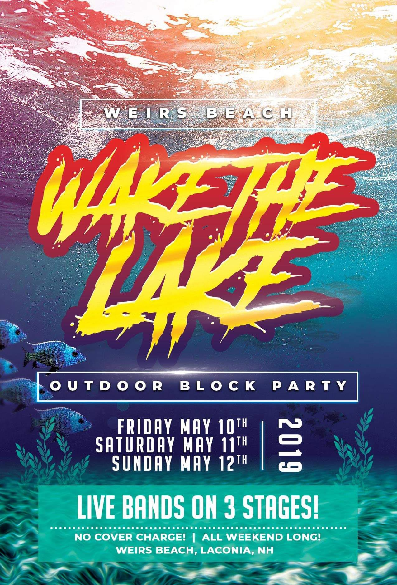 Wake the Lake Block Party Flyer